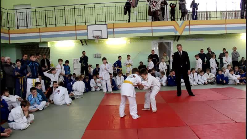 Шишковец Артём на областном турнире по дзюдо в Чечерске 24.11.18.