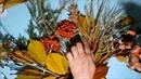 Поделка осенняя из листьев своими руками. Букет осенний для школы.
