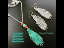 How to make Beaded Feather Earrings or Pendant 💞 Style Earrings