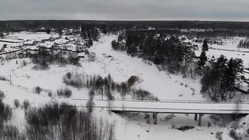 12 января 2019 года, зима в деревне, Новгородская область.
