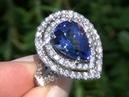 Kate Winslet Designer Solid Platinum D-Block Tanzanite & VS Diamond Cocktail Ring. Must Be Sold