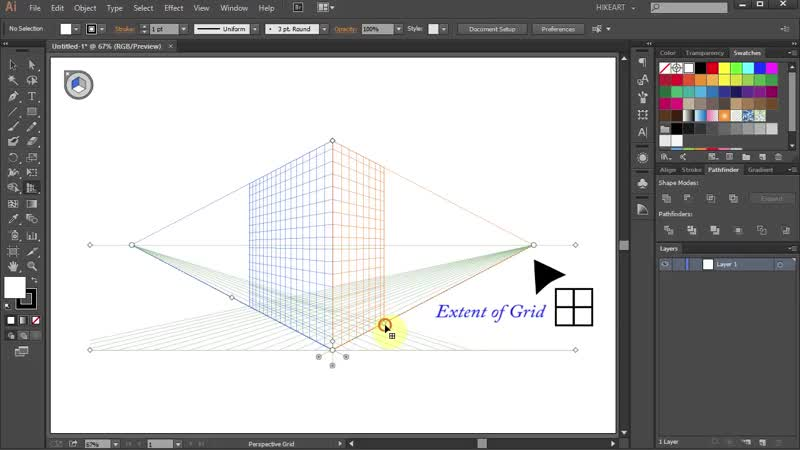 [3][114.90 B] how to use the perspective grid tool in adobe illustrator part 1