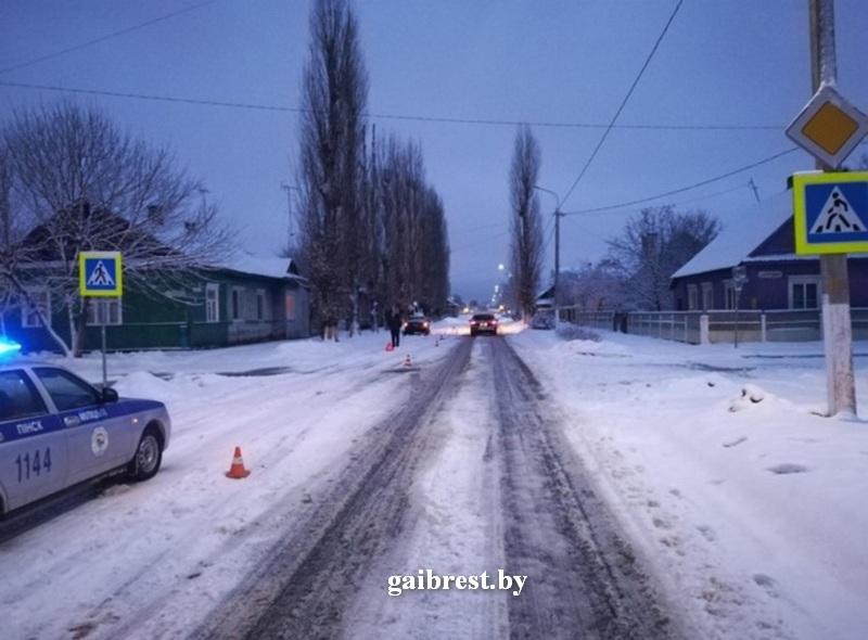 В Пинске совершён наезд на 14-летнюю девочку-пешехода
