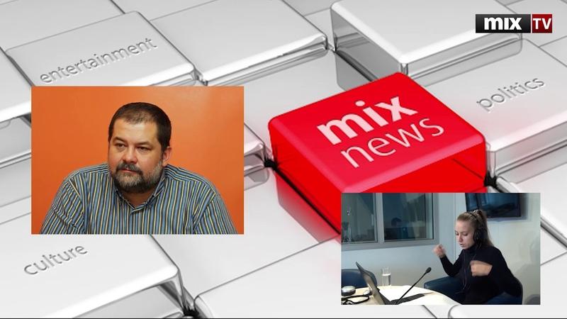Российский писатель-фантаст Сергей Лукьяненко в программе Абонент доступен MIXTV