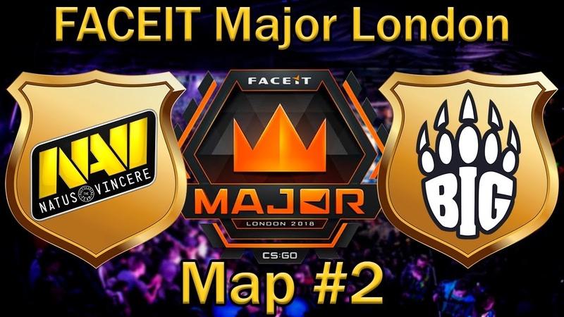 НАВИ пикают НЮК | NaVi vs Big Map 2 (bo3) de_nuke [RU] | FaceIT Major London 2018