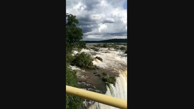 Водопад Игуасу, «Глотка дьявола», вид с бразильской стороны