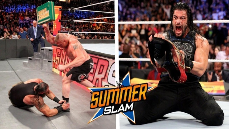 Brock Lesnar vs Roman Reigns SummerSlam 2018 Highlights - WWE SummerSlam 19 August 2018 Highlights