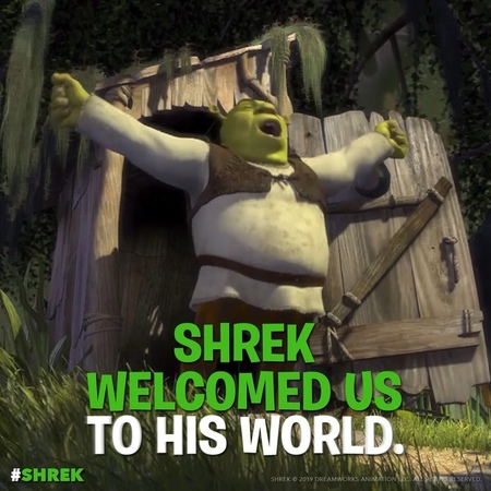 """DreamWorks Animation on Instagram """"Happy Shrek-a-versary! The big green guy hit theaters on this day in 2001! Shrek"""""""