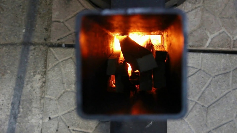 Installation and Burn Rocket Stove Heater