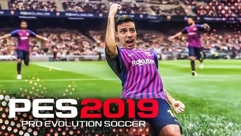 PES 2019 TESTANDO A DEMO MELHOR QUE O FIFA