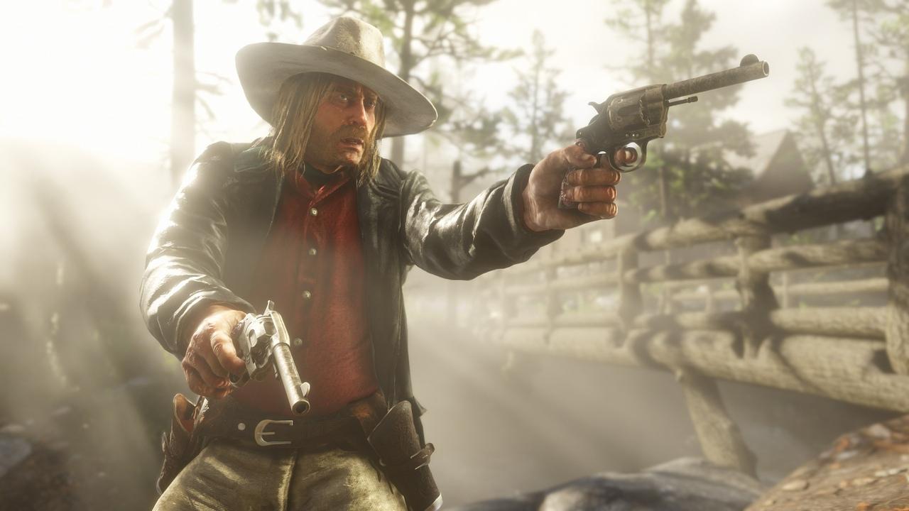 Red Dead Redemption 2 стрельба с двух рук