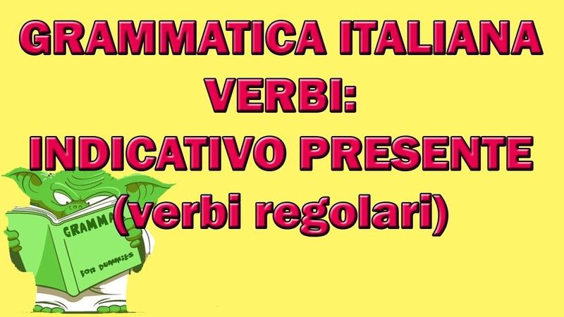 Indicativo presente dei verbi regolari