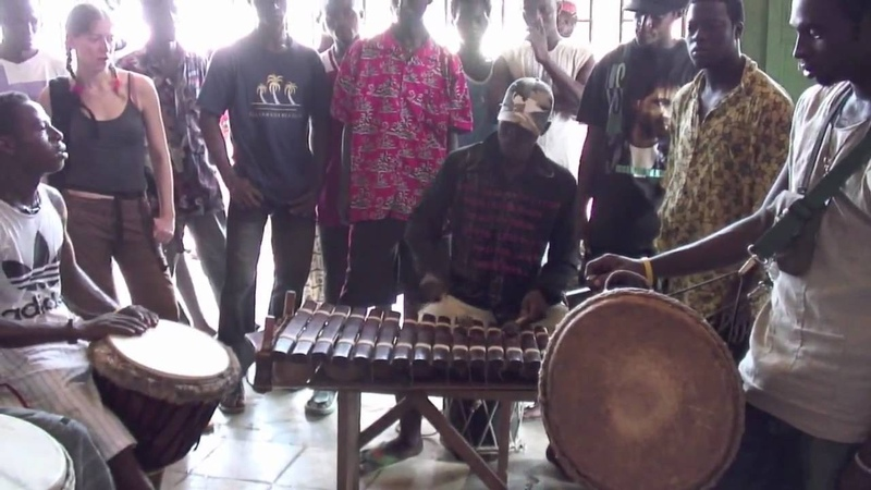 Fantastic Balaphone, djembe dunun players in Conakry, Guinea