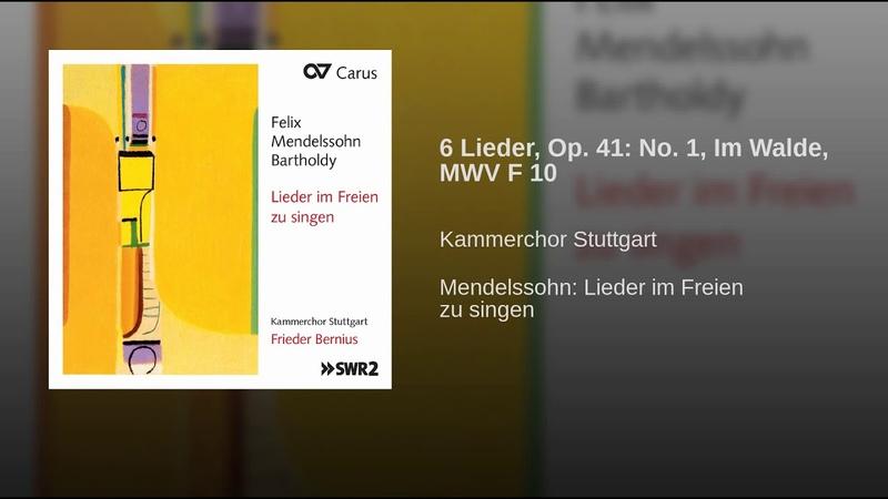 6 Lieder, Op. 41: No. 1, Im Walde, MWV F 10