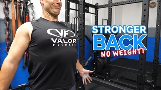BACK Workout Without Weights 💥 5 Minute Follow Along Routine