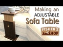 Woodworking Making an Adjustable Sofa Table