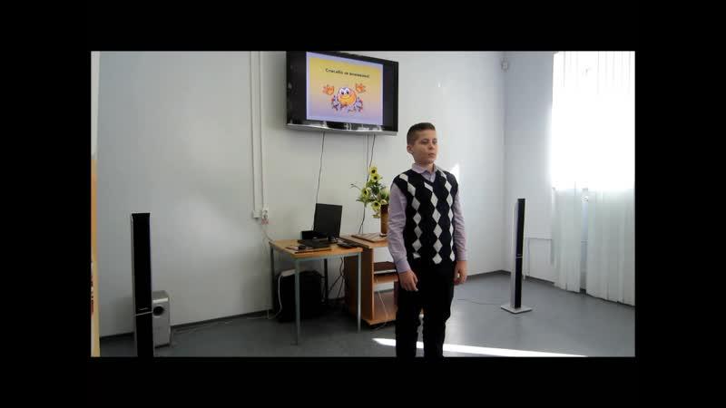 Стихотворение Агнии Барто Очки читает воспитанник Охтинского центра эстетического воспитания