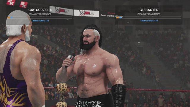 GGW (Gay Godzilla Wrestling) WWE2K1916