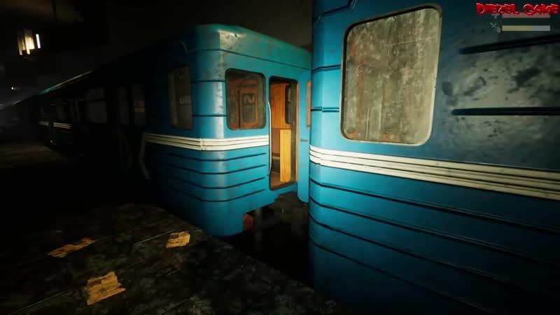 [Diezel Game] Tunnels of Despair (1) Хоррор игра 2018 - Обзор первый взгляд на русском - Адское метро
