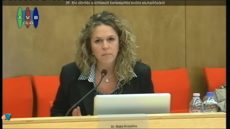 Dr. Bakó Krisztina budaörsi önkormányzati képviselő a honfoglalásról