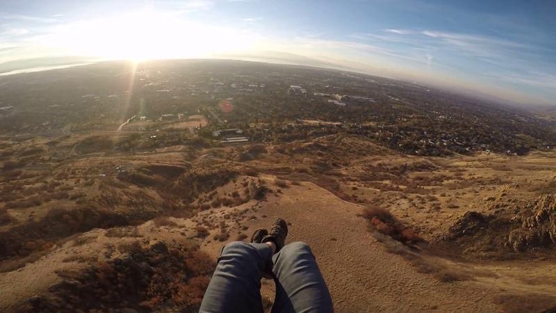 Speedflying Rocket Sled Rapi-Dos 6.5m off Y mountain 11/18