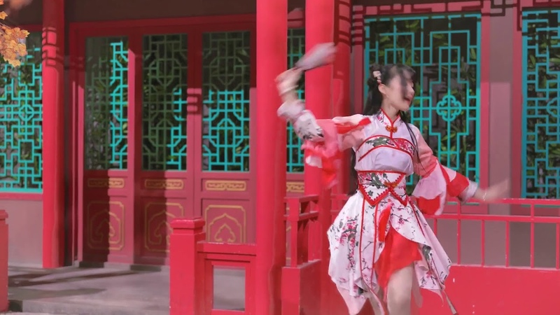 Chinese girl spica dance cosplay