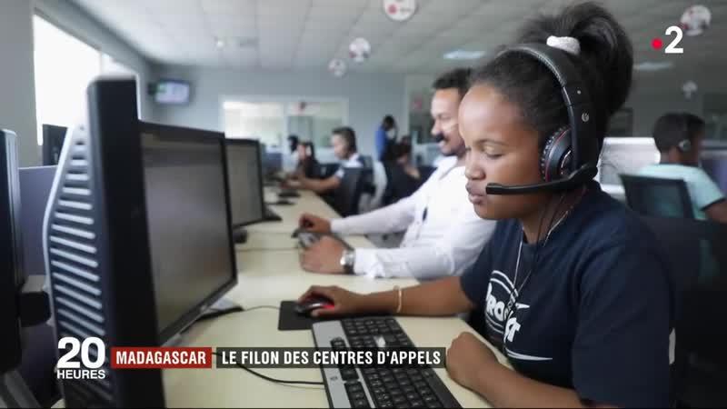 VIDEO. « On dit aux clients que nous sommes en France » : le quotidien d'un call center à Madagscar