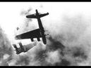 B 17 Bomber going down Guncamera of Messerschmitt Bf 109 and Focke Wulf 190