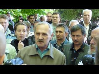 Славянск. 7 мая, 2014. Эмоции жителей во время похорон ополченцев и местных жителей.