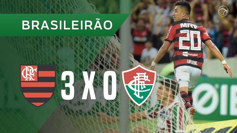 FLAMENGO 3 X 0 FLUMINENSE - GOLS - 13/10 - BRASILEIRÃO 2018