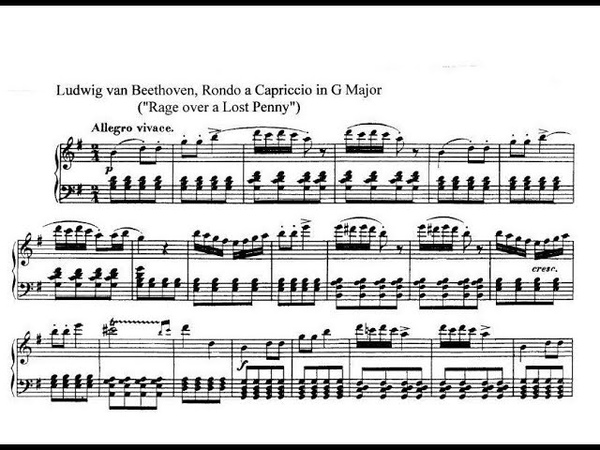 Ludwig van Beethoven Rondo a Capriccio Rage over a Lost Penny G Dur op 129