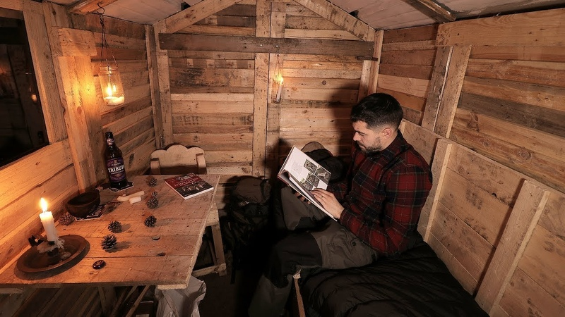Log Cabin Life First Night in the Off Grid Pallet Wood Cabin