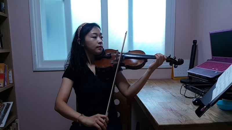 스즈키1권 즐거운 아침 바이올린 강사 김민정 기초 바이올린 레슨 취미 초급 4