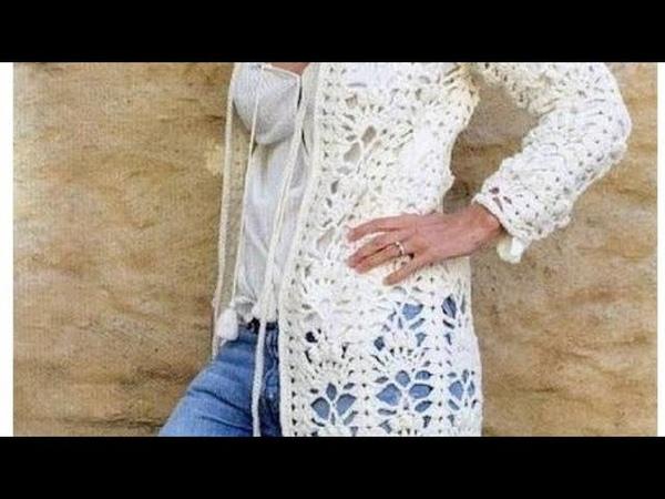 Узор крючком для кардигана - Crochet pattern for cardigan