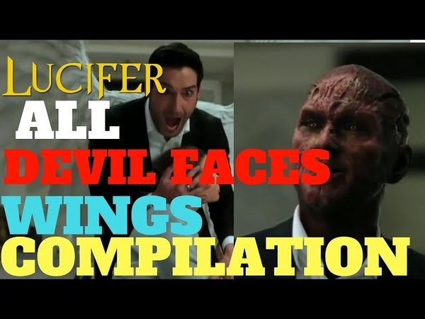 Lucifer All WINGS AND TRUE FORM Scenes Season 1 - 3 Includes 3x24 Finale HD