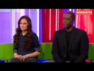 BBC The One Show-Lara Pulver, Adrian Lester
