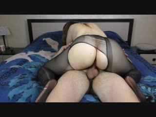 Teen big ass pussyjob in nylon pantyhose cum on ass amateur sex - big ass butts booty tits boobs bbw pawg curvy mature milf