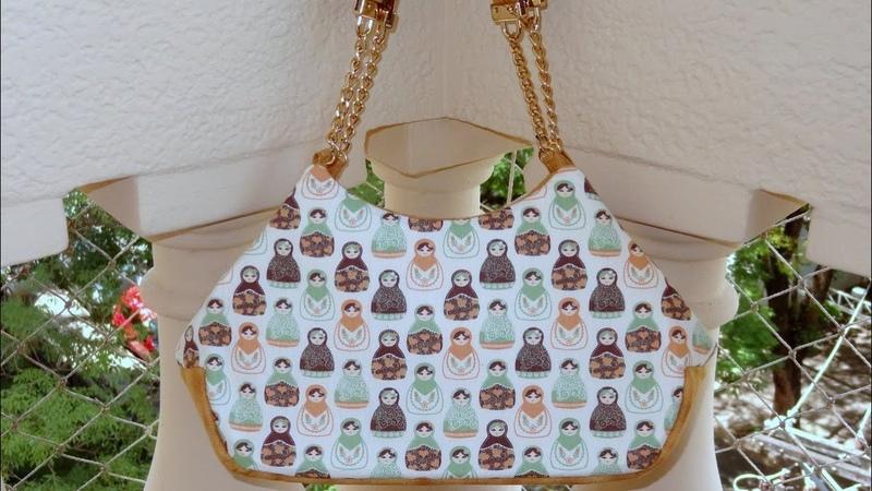 Bolsa de tecido Matrioska. Beautiful fabric bag tutorial. Make a beautiful fabric bag. Fabric bags