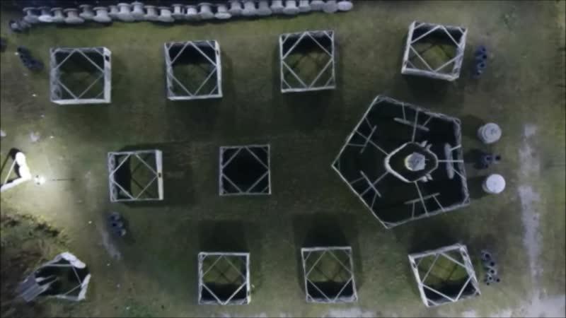 пейнтбольный парк Тульский легион. Ночное освещение.