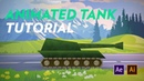Moving tank animation in After Effects and Illustrator Tutorial