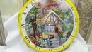 Вышивка. Часы с домиком. Живая картина от Panna. Обзор и 1 отчет.