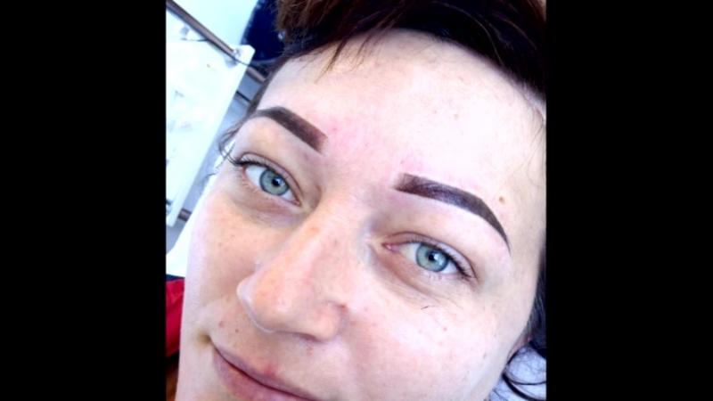 перманентный макияж.теневая растушевка.пудровые брови.татуаж бровей