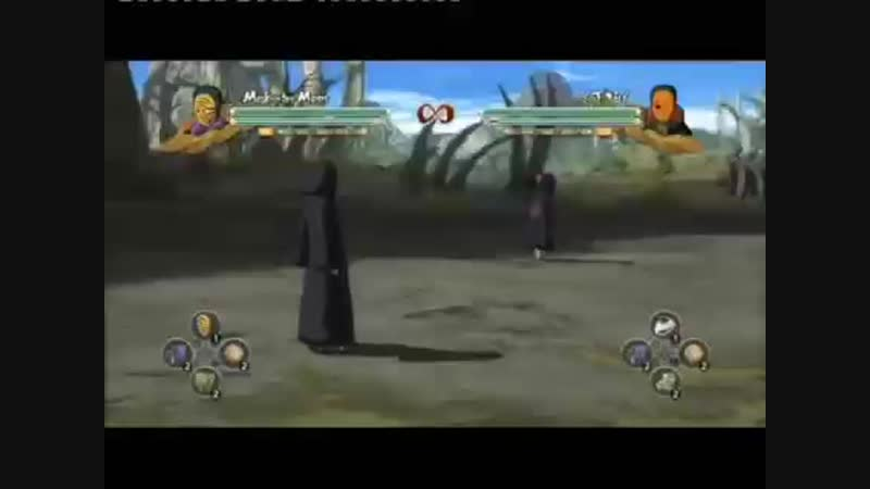 Serious Tobi and Obito (yellow mask) moveset (speed up)