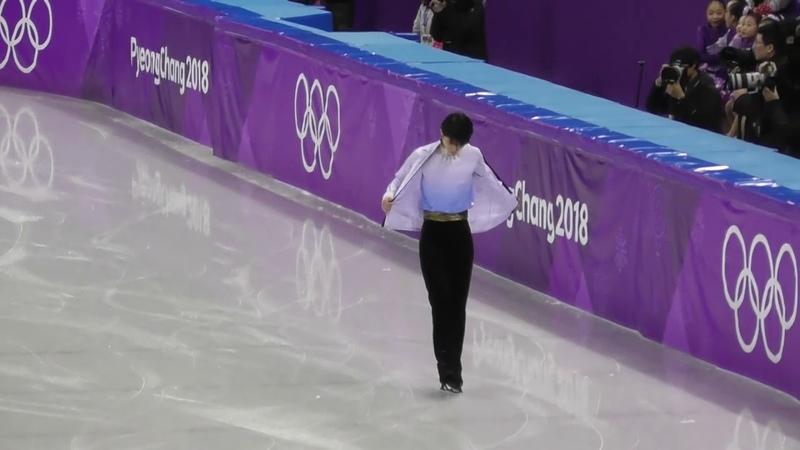 216平昌オリンピック フィギュア 男子シングルSP6分間練習♡羽生結弦