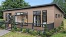 45'x20' Atrium Monopitch Luxury Lodge Leaves A Strong Impression With Neutral Colour Scheme