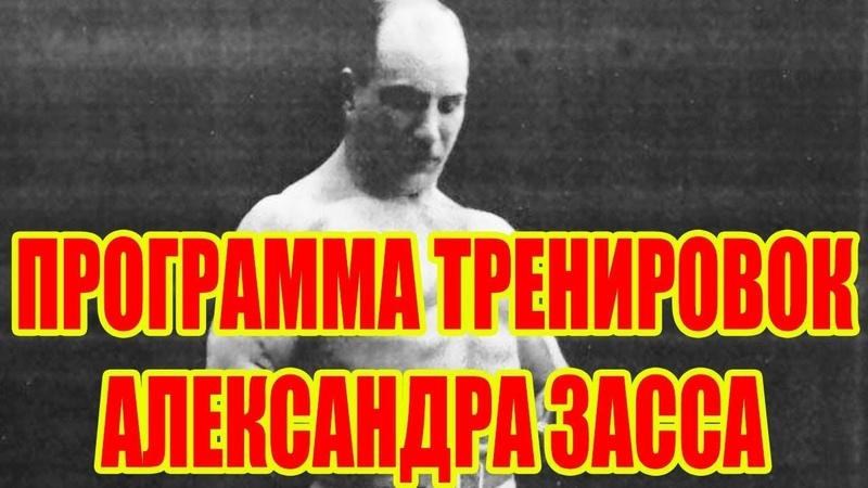 ПРОГРАММА ТРЕНИРОВОК АЛЕКСАНДРА ЗАССА