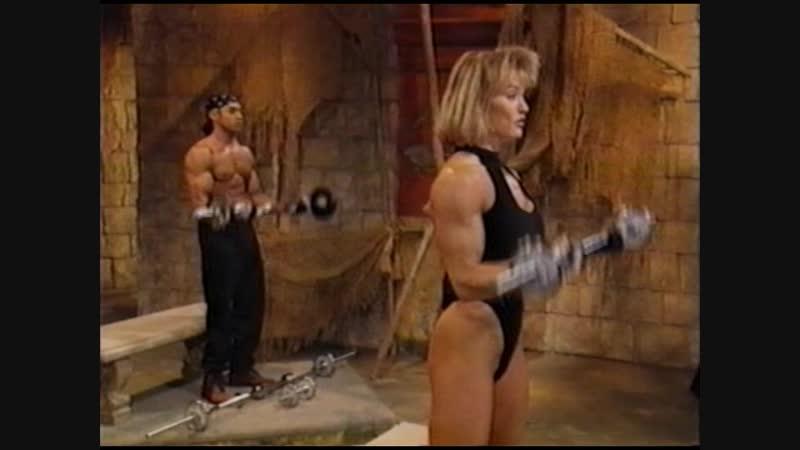 Cory Everson Get Hard Arms Shoulders аэробика, шейпинг, фитнес