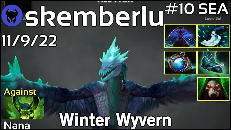 Support skemberlu plays Winter Wyvern Ward spots shown Dota 2 7 20