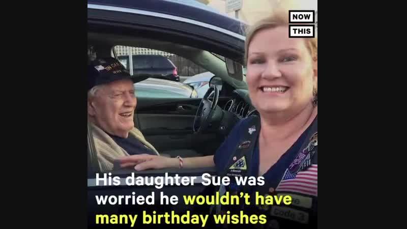 Ветеран получил 50 000 открыток на день рождения