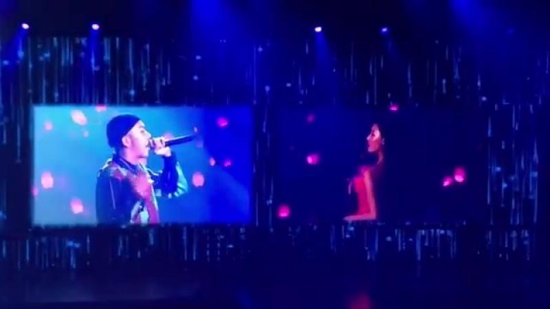 Loco Hwasa on the big screen on Mamamoo Concert
